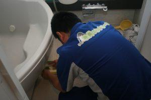 お風呂場掃除